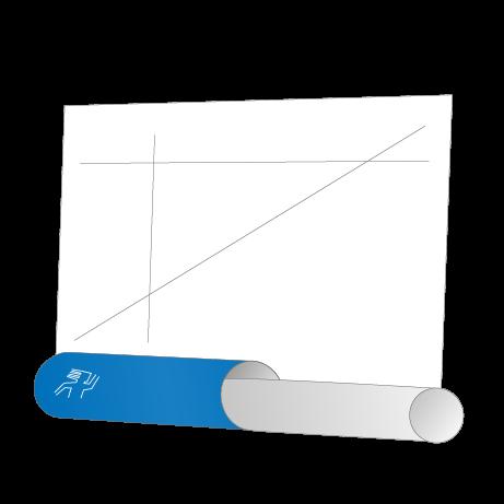 CAD-Pläne auf Rolle