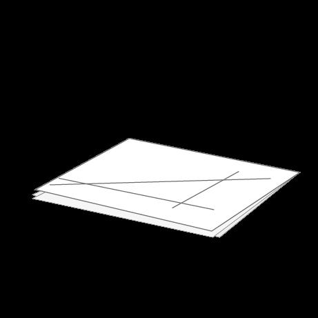 CAD-Pläne gefaltet auf DIN A4 mit Abheftstreifen