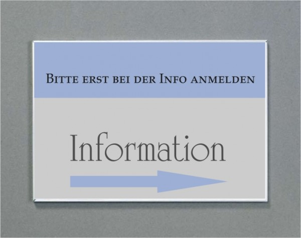 Wandschild   System Karlsruhe   DIN A4 quer